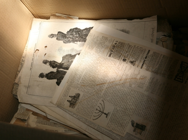 Box of Newspapers cropped